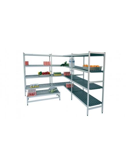 Estanterias de  aluminio con fondo de 570 mm norma gastronorm