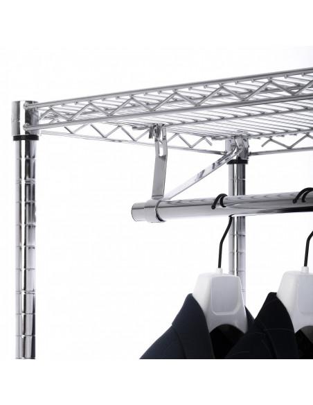 Estanteria triangular de 4 niveles y 160cm de altura
